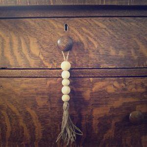 Wooden Bead Knob Tassel